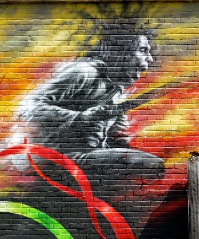 Brockley street art festival whatawonderfulworld for Bob marley mural san francisco